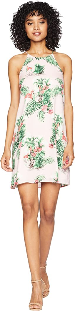 Tabitha Spaghetti Strap Flamingo Dress