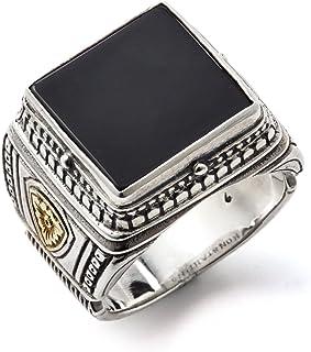 خاتم كونستانتينو للرجال من الفضة الإسترلينية والعقيق