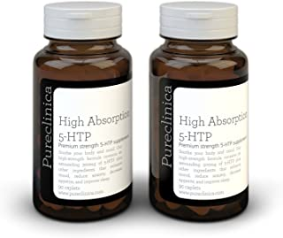 5HTP 300mg x 180 tablets (2 bottles with 90 tablets in each - 6 months supply. With 220mg Vitamin C. B6. and black pepper extract. SKU: 5H3x2