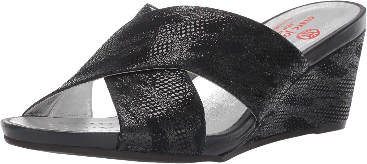 Marc Joseph New York Weekly update Women's Leather Sandal in Popular product Wedge Made Brazil
