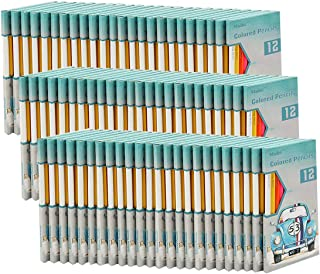 Madisi Colored Pencils Bulk - Non-Toxic Pre-Sharpened - 72 Packs of 12-Count - Class Pack
