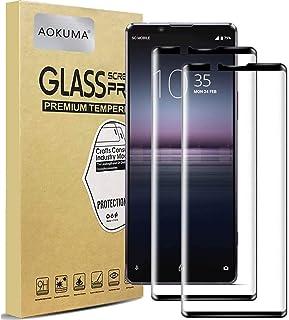 واقي شاشة من الزجاج المقسى لهاتف Sony Xperia 1 II، غطاء شاشة كامل من الحافة إلى الحافة، طبقة حماية ثلاثية الأبعاد منحنية ا...