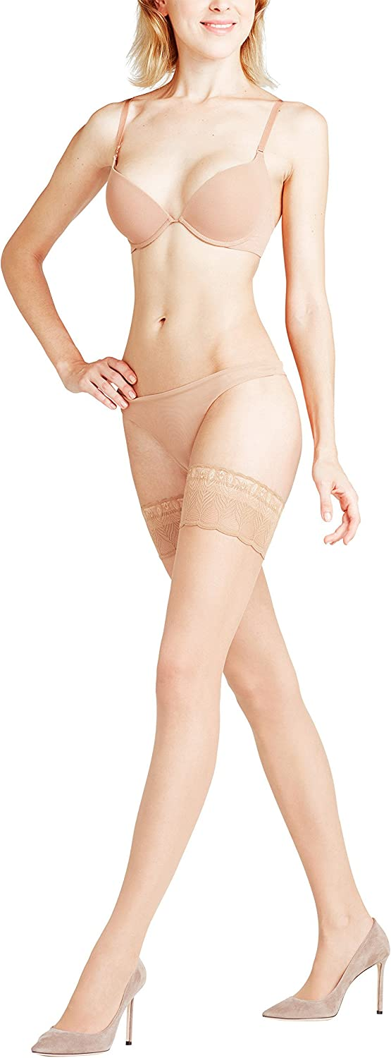 Falke womens Lunelle 08 Peacock Stay Up Thigh High Stocking Pantyhose