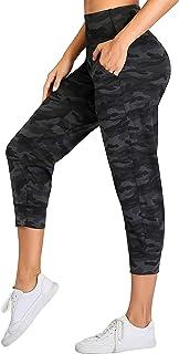 Oalka Womens Capri Joggers High Waist Pockets Running Sweatpants Jogger Pants
