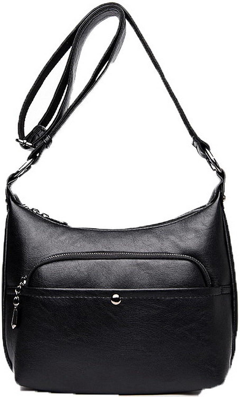 AllhqFashion Women's Casual Fashion Zippers Pu Bags Crossbody Bags,FBUBD180929