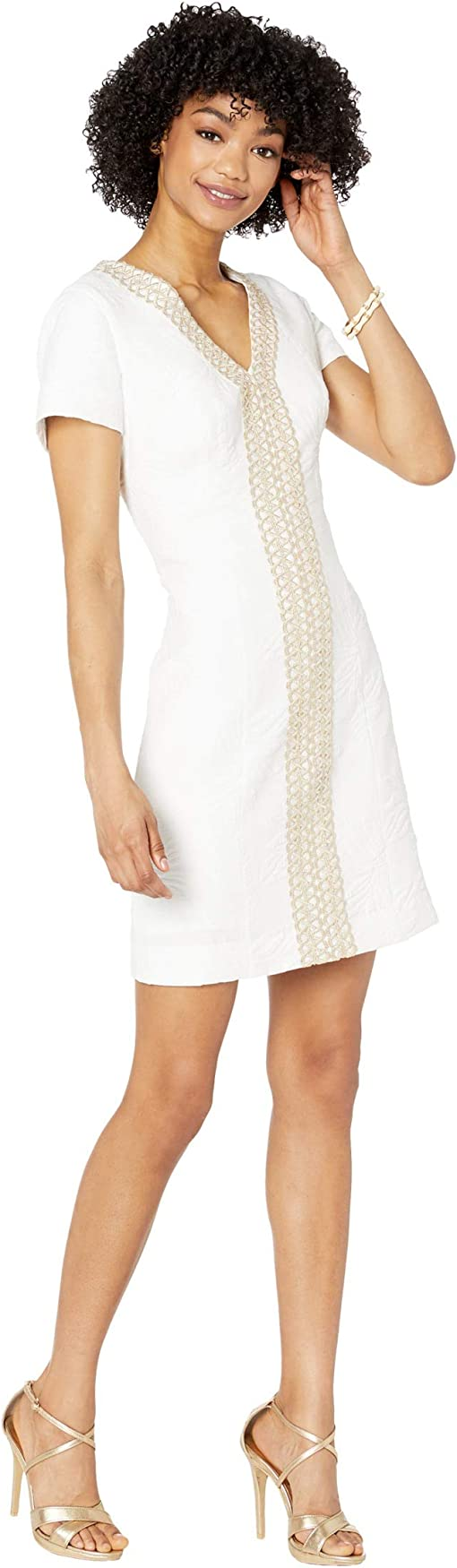 Resort White Palm Paradise Pucker Jacquard