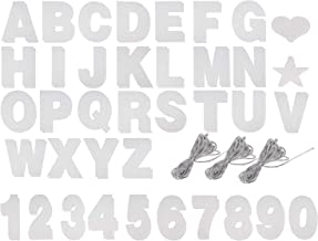 Custom Banner Kit - 125-Piece Customizable Banner Letters, Numbers, and Symbols, Silver Glitter DIY Letter Banner, Make Your Own Banner for Birthdays and Weddings, Party Decoration Supplies