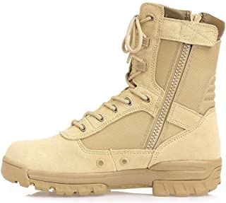 Thowi Men's Military Tactical Boots Army Jungle Boots with Zipper