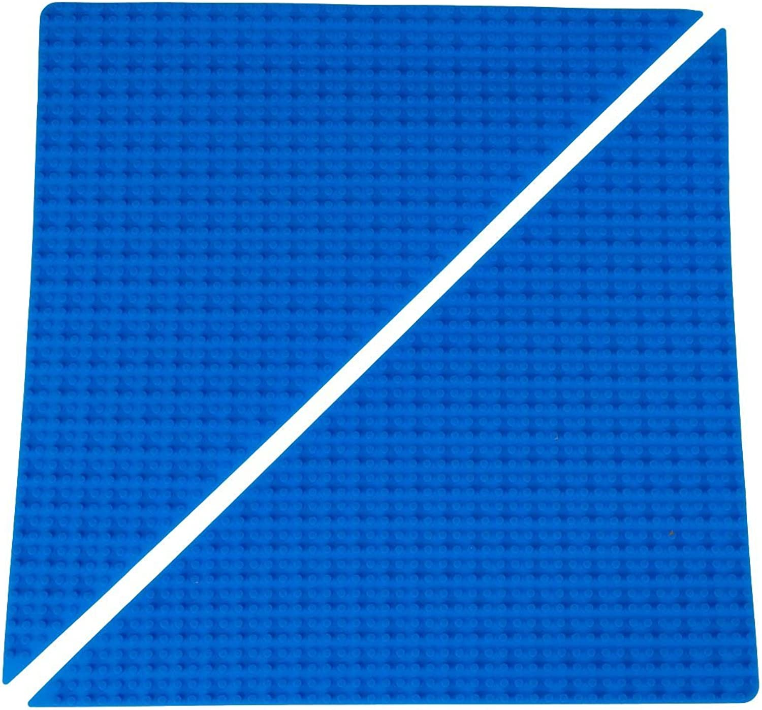 Classic bluee Right Triangle Roll Up Building Mat by Strictly Briks   15 x15  Double Sided Silicone Travel Mat   100% Compatible With All Major Brands   Drawstring Bag & Strap Included   2 Pack