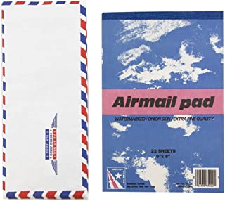 JAM Paper Airmail Stationery Set - Small - 22 Onion Skin Paper Sheets (6