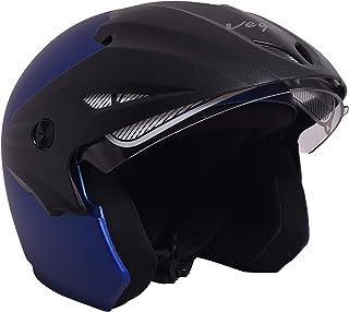 Vega Cruiser W/P Open Face Helmet (Dull Blue, Medium)