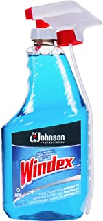 Windex, SJN695237, Glass Cleaner with Ammonia-D - Capped with Trigger, 1 Each, Blue