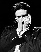 Johnny Cash playing a harmonica Photo Print (8 x 10)