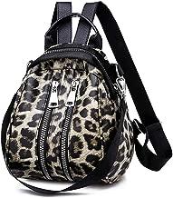 Clearance ? Women Bag JJLIKER Leopard Print Leather School Travel Backpack