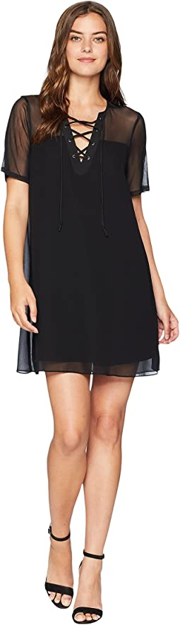 Laced Front Tent Dress