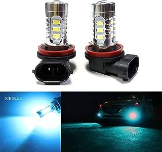 SOCAL-LED 2x H11 H8 LED Fog Light Bulb 15W SMD 5730 12V High Power Bright DRL Bulbs, Ice Blue (Teal)