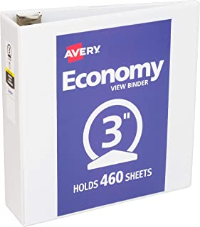 حافظة Avery Economy View Binder مع حلقة دائرية 3 Inch