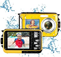 Underwater Camera Camcorder for Snorkeling Full HD 2.7K 48.0 MP Waterproof Point and Shoot Digital Camera Dual Screen Acti...