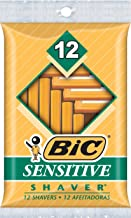 BIC Sensitive Shaver Men's Single Blade Disposable Razor, 144 Count