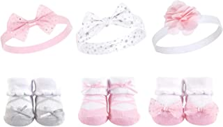 Hudson - Juego de diadema y calcetines para bebé, 6 piezas