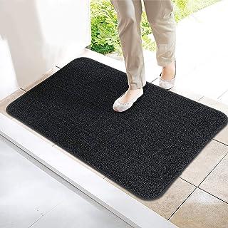 ITSOFT Non-Slip Polyester Dirt Trapper Door Mat Indoor Outdoor Entrance Rug for Front Door Super Absorbent, Machine Washab...