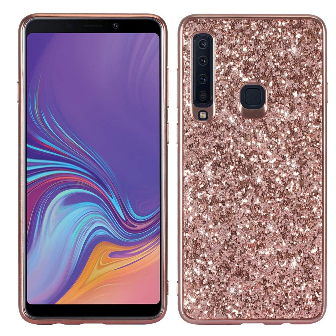 Proteja su teléfono Celular Estuche Protector de TPU a Prueba de Golpes y Polvo de Brillo para Galaxy A9 (2018) / A9s para el teléfono Celular de Samsung (Color : Oro Rosa):