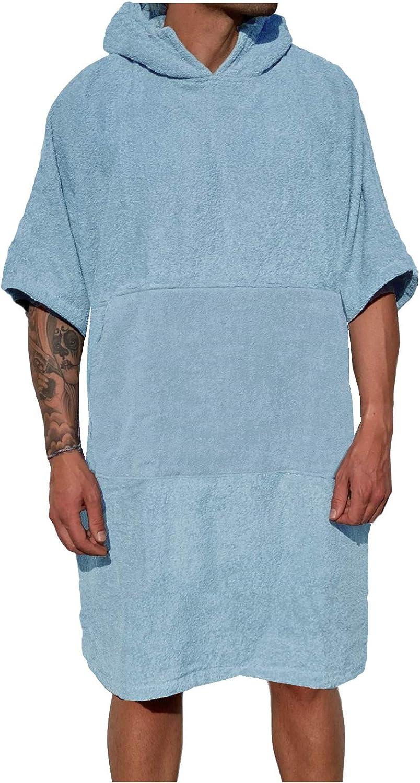 HOMELEVEL Damen und Herren Surfponcho 100/% Baumwolle Strandponcho Poncho Badeponcho Strandtuch Handtuch Cape Frottee Badetuch mit Kapuze