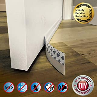 Door Draft Stopper Door Sweep Weather Stripping Silicone Draft Blocker Against Drafts, Dust, Noise(Length 16.4FT, Width 0.98inch)