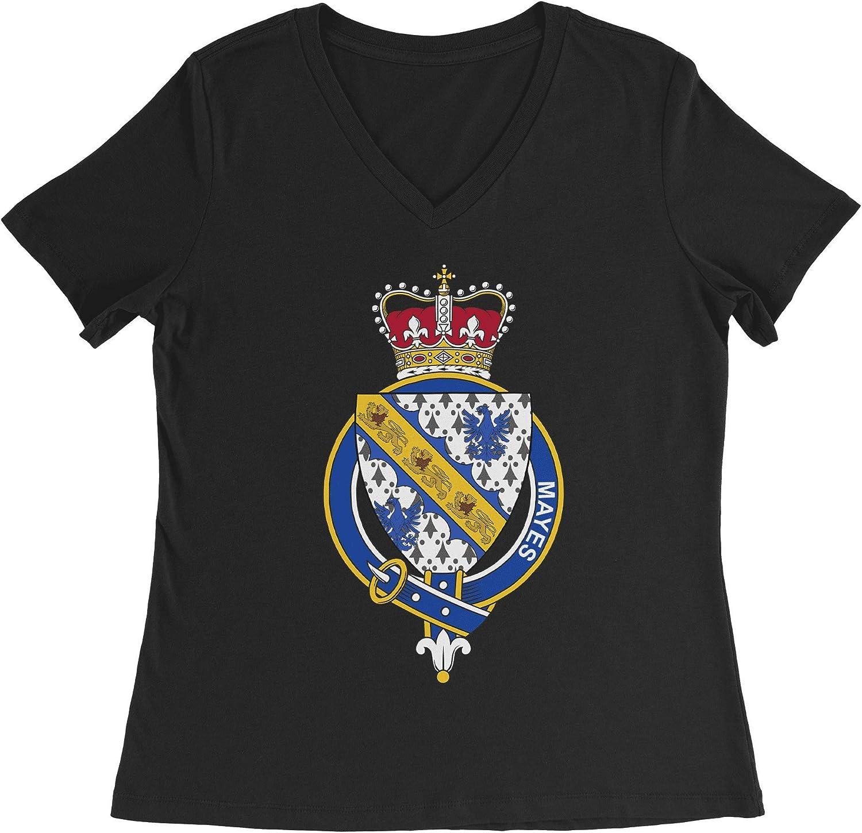 HARD EDGE DESIGN Women's English Garter Family Mayes T-Shirt