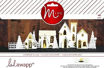 Heidi Swapp Minc Christmas 107 Piece 3D Paper Village Decor