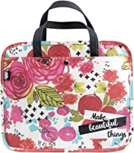 DaySpring Bible Journaling Illustrated Faith - Organizational Bag - Make Beautiful Things Floral (70161)