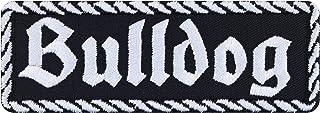 Bulldog patch, biker, opstrijkbaar, hond, motorfiets, strijkplaatje, rocker sticker, heavy metal, cadeau voor mannen/vrouw...