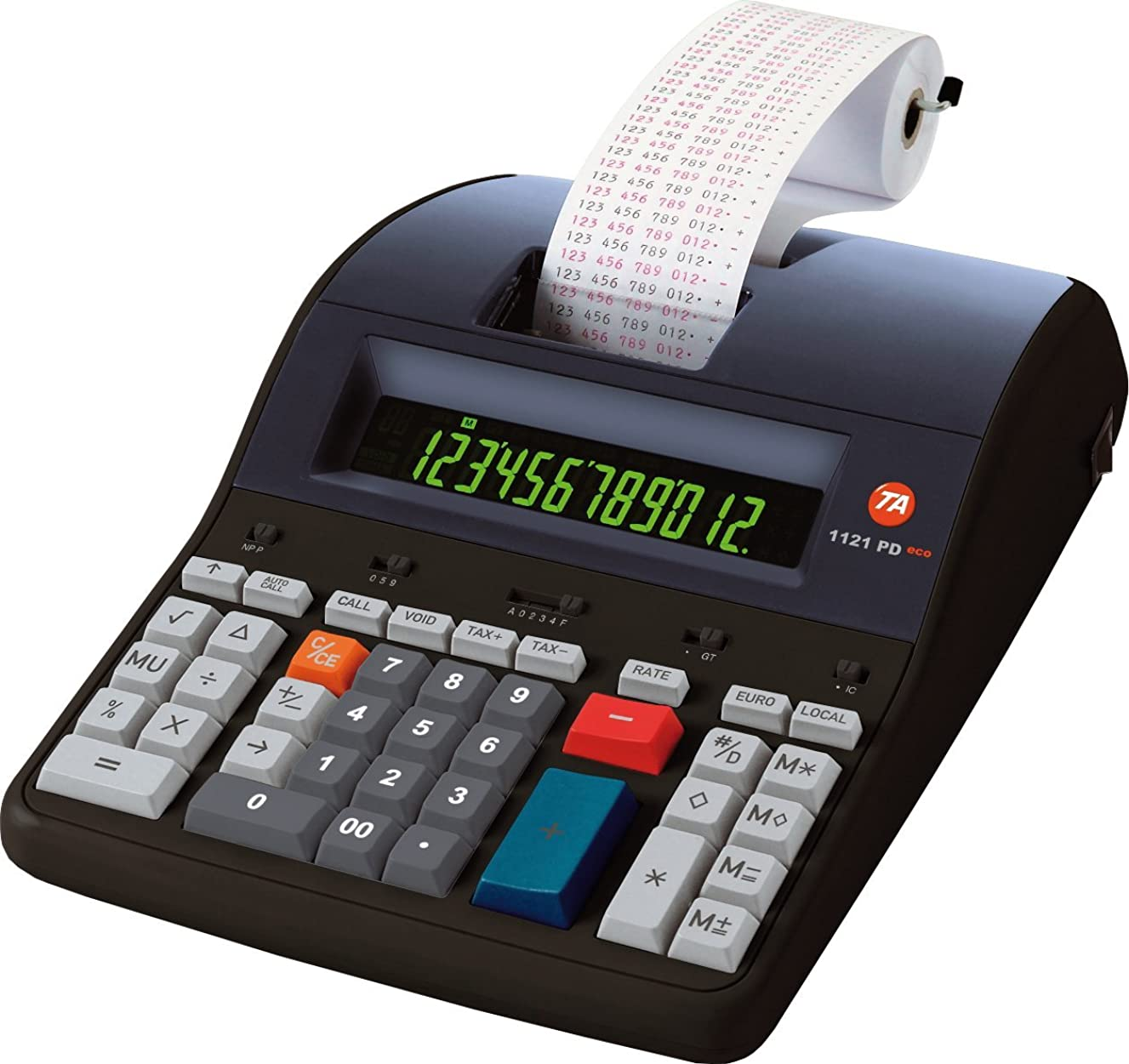実験サイレン慢triumph-adler b4997000印刷、電卓12桁ブラック