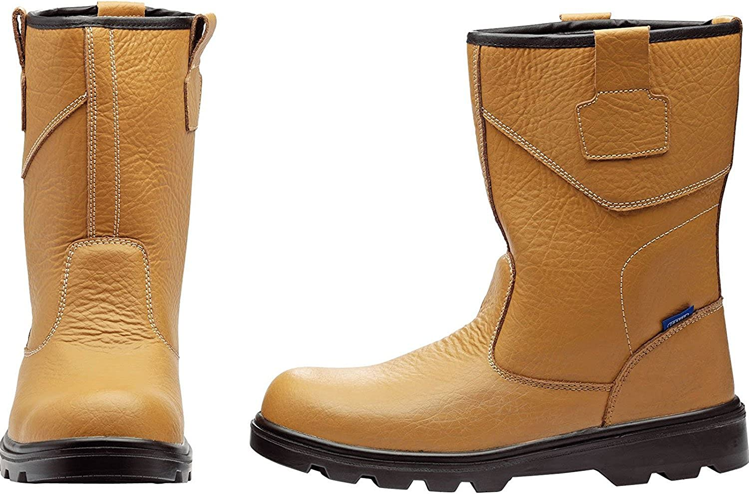 Draper 85973 Rigger Style Safety Boots, Yellow, Size 8