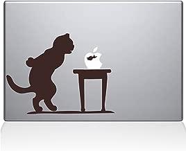 "The Decal Guru 1035-MAC-13P-BRO Cat Fish Bowl Vinyl Sticker, 13"" MacBook Pro (2015 & Older), Brown"