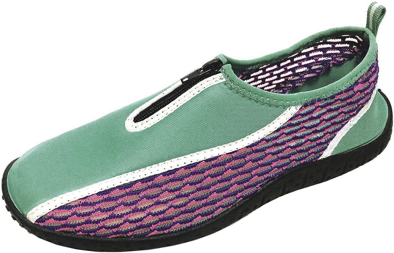 Cambridge Select Women's Slip-on Closed Toe Quick Dry Mesh Zipper Non-Slip Water shoes