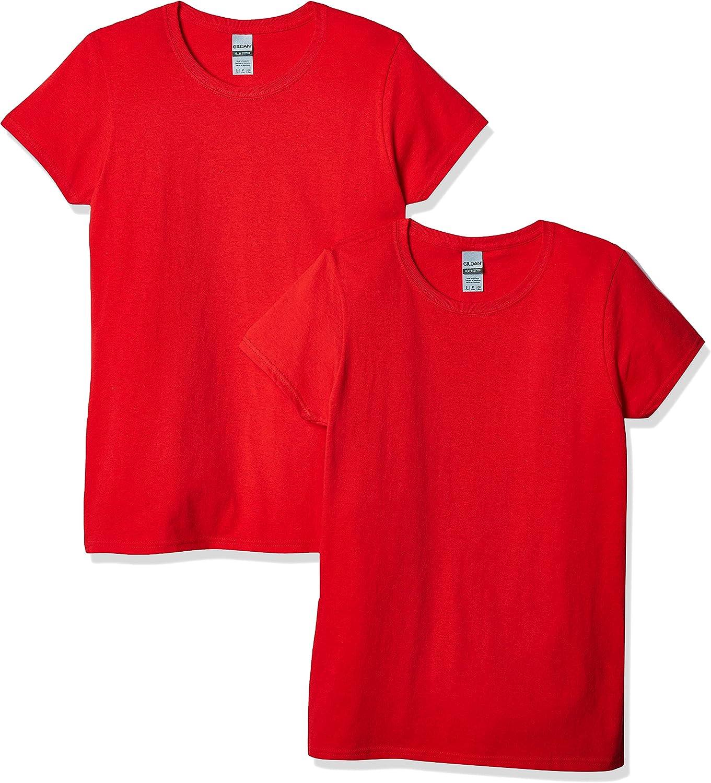 Gildan Women's Heavy Cotton T-Shirt, Style G5000L, 2-Pack
