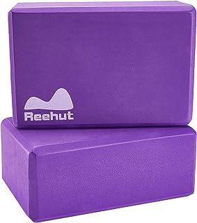 Reehut ヨガブロック ピラティスブロックヨガ枕ヨガ用 高密度EV丈夫な 軽量 耐臭性 防湿性 ポーズ補助 バランス補助 補助 体力改善 柔軟性向上 2個セット 全5色