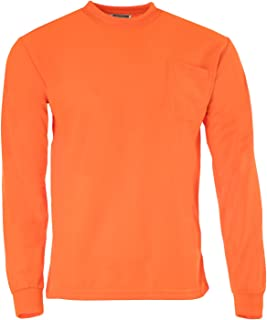 High Visibility T-Shirt with Pocket Long Sleeve