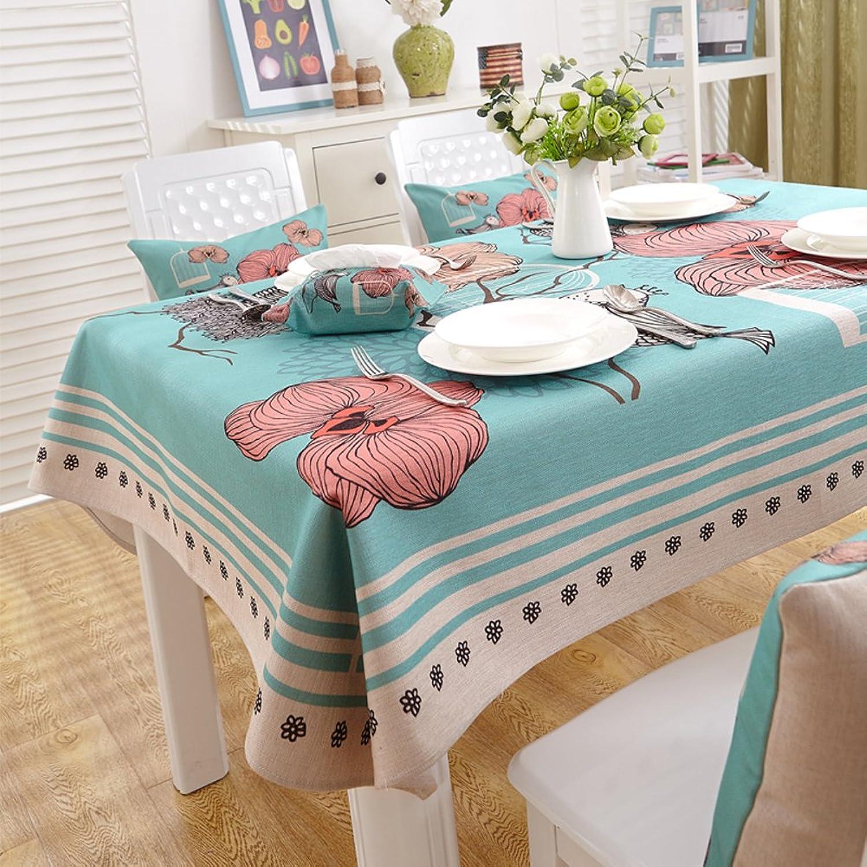 American Country Tischdecken  Tischtuch  Tischtuch Pastorale Baumwolle Tischdecke Verdicken Sie Tuch  lngliche Tischdecke-B 180x140cm(71x55inch)