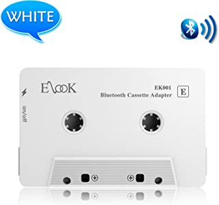 Car Audio Receiver, Bluetooth Cassette Receiver Tape Aux Adapter Player with Bluetooth 5.0, White