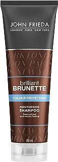 John Frieda Brilliant Brunette Colour Protecting Moisturising Shampoo, 250 ml