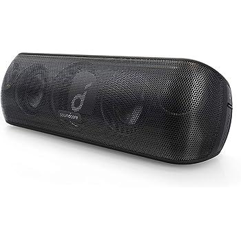 Anker Soundcore Motion+ Bluetooth スピーカー 防水 高音質 重低音 apt-X 30W出力 12時間連続再生 IPX7 パッシブラジエーター iPhone & Android 対応 ブラック