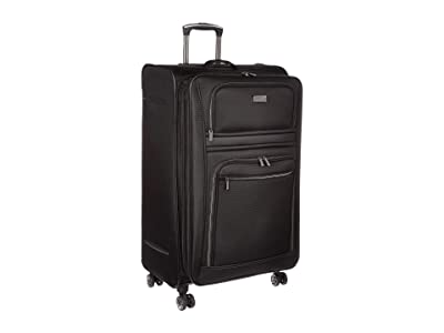 Kenneth Cole Reaction 28 Rugged Roamer Lightweight Softside Expandable 8-Wheel Checked Luggage (Black) Luggage