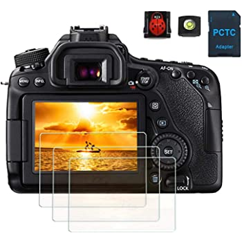 GLOSSY MM 5H SCREEN PROTECTOR CANON EOS 77D 77 D BOTH DISPLAYS