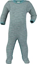 Footed Sleep and Play: Organic Wool Silk Footie Sleeper Pajamas for Baby Boys or Girls
