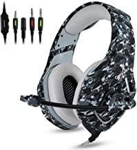 Gaming Headset PS4, Compatible for Xbox One, Nintendo Switch, ONIKUMA K1 Stereo Noise Cancelling Over Ear Headphones with ...