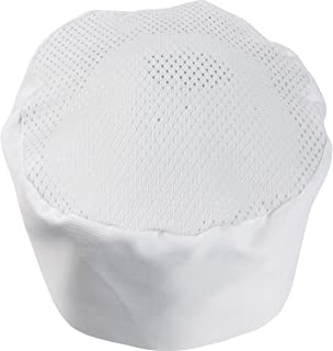 Polycotton Mesh Top Chefs Skull Cap, White or Black, Pack of 1 or 5
