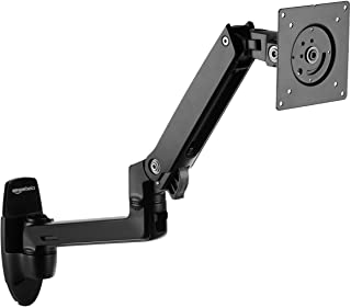 AmazonBasics Premium Wall Mount Computer Monitor and TV Stand – Lift Engine Arm..