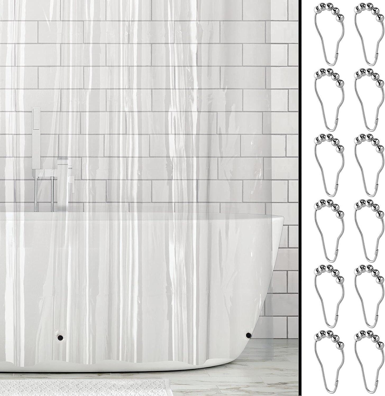 mDesign Plastic Water-Resistant Heavy Curtain Sacramento Mall Max 48% OFF Shower PEVA Duty